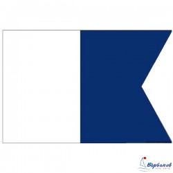 "Флаг ""Алфа"" (A)  30х45см"