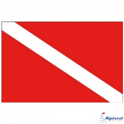 Флаг водолазен 30х45см