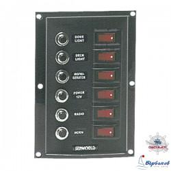 Табло 6 бутона с автоматични предпазители 12V