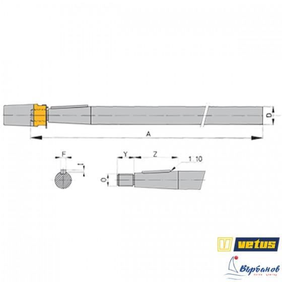 Гребен вал DUPLEX 1-4462- 25мм
