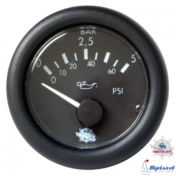 Инструмент за следене налягането на маслото 12V 0-5 bar