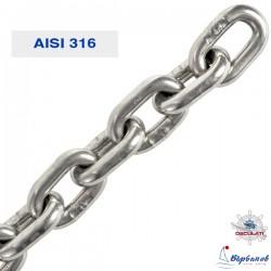Верига 6-8 мм неръждаема AISI 316