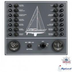 Контролен панел с 14 ключа, волтметър и амперметър